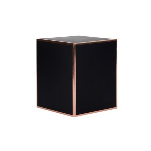 Oxford Medium Candle Box No Window (Black w Rose Gold Edge)