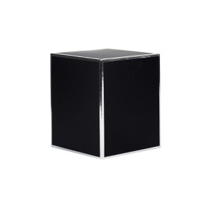 Oxford Medium Candle Box No Window (Black with Silver Edge)