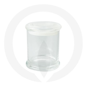 Danube Medium Base and Flat Lid Clear (Packed with lid on)