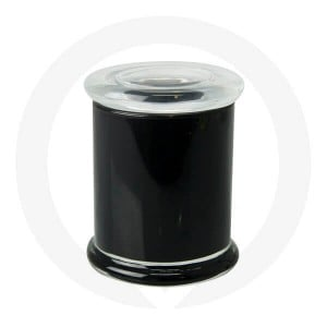 Danube Large Base and Flat Lid Opaque Black (Packed with Lid on)