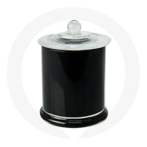 Danube Large Base and Knob Lid Opaque Black (Packed with lid on)