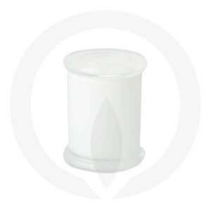Danube Medium Base and Flat Lid Opaque White (Packed with lid on)