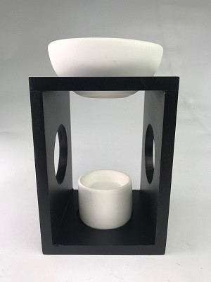 Olympus (Matt Black) Wooden Oil Burner