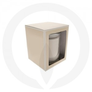 Danube Small Flat Lid Candle Box with Window (Beige)
