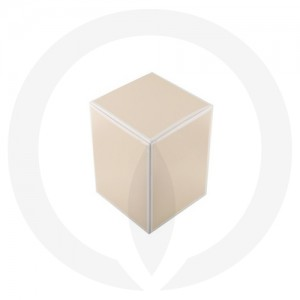 Danube Small Knob Lid Candle Box No Window (Beige)