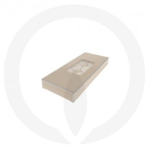 19mm Tealight Box - PVC - 10 Pack (Beige)