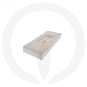 19mm Tealight Box - PVC - 10 Pack (White)