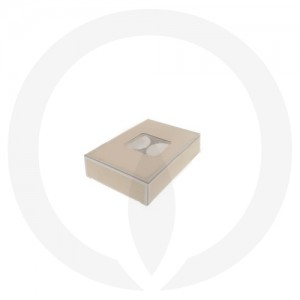 25mm Tealight Box - PVC - 6 Pack (Beige)