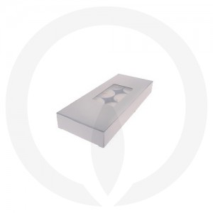 25mm Tealight Box - PVC - 10 Pack (White)