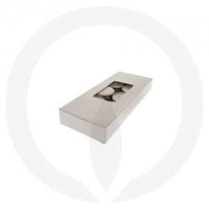 25mm Tealight Box - 10 Pack (White)