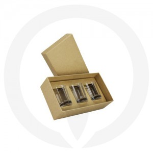 Oxford Votive - Trio Pack - (Kraft Brown)