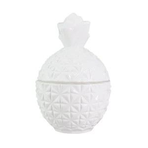 Pineapple Large Base Gloss White (Packed with lid on)