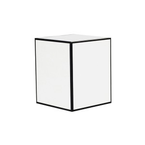 Medium Candle Box No Window (White w Black Edge)