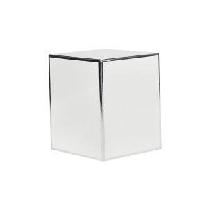 Medium Candle Box No Window (White with Silver Edge)