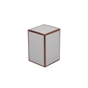 Danube medium candle box (white with rose gold)