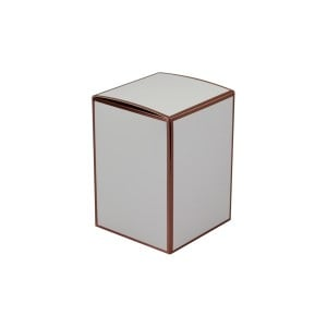 Danube Large Knob Lid Candle Box No Window (White with Rose Gold Edge)