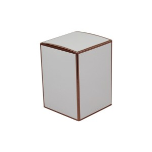 Danube XL Knob Lid Candle Box No Window (White with Rose Gold Edge)