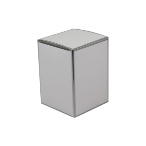 Danube XL Knob Lid Candle Box No Window (White with Silver Edge)