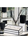 Danube Small Knob Lid Candle Box - Trio Pack - (White With Black Edge) in showroom display