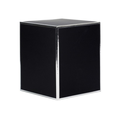 Oxford Large Candle Box No Window (Black with Silver Edge)