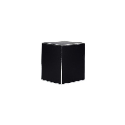 Small Candle Box No Window (Black with Silver Edge)