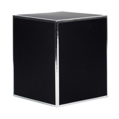 XL Candle Box No Window (Black with Silver Edge)
