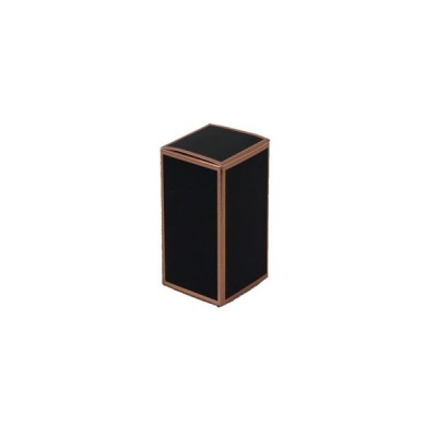 Danube Small Knob Lid Candle Box No Window (Black with Rose Gold Edge)