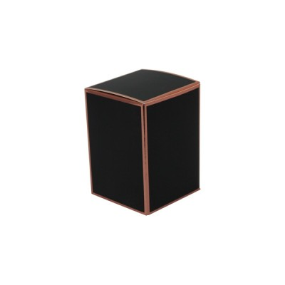 Danube Large Knob Lid Candle Box No Window (Black with Rose Gold Edge)