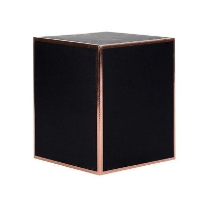 Oxford Large Candle Box No Window (Black w Rose Gold Edge)
