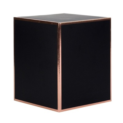Oxford XL Candle Box No Window (Black w Rose Gold Edge)