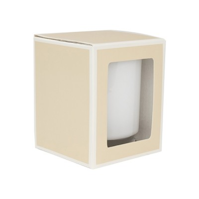 Large Candle Box with Window (Beige)