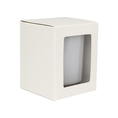 large candle box with window white. Black Bedroom Furniture Sets. Home Design Ideas