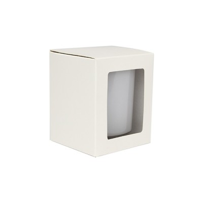 Medium Candle Box with Window (White)