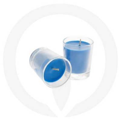 Blue coloured candles