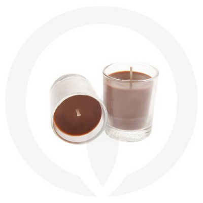 Brown coloured candle