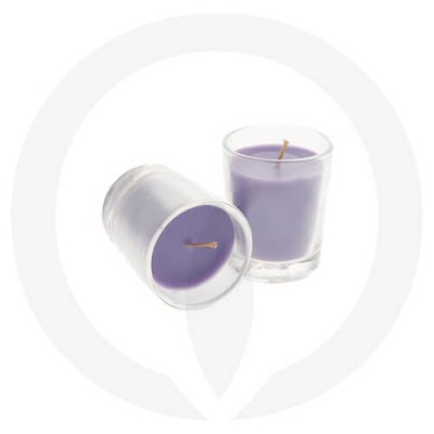 Lavender coloured candles