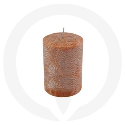Maple coloured pillar candle