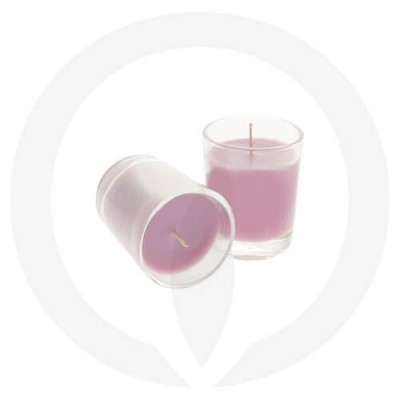 Orchid coloured candles