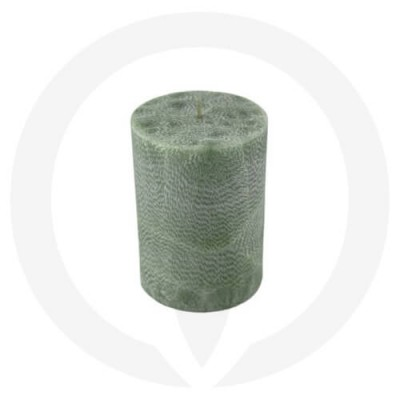 Sage Green coloured pillar candle