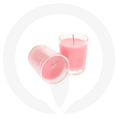Shocking Pink coloured candles