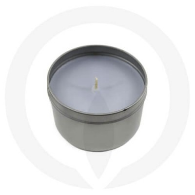 Smoke Grey coloured tin candle