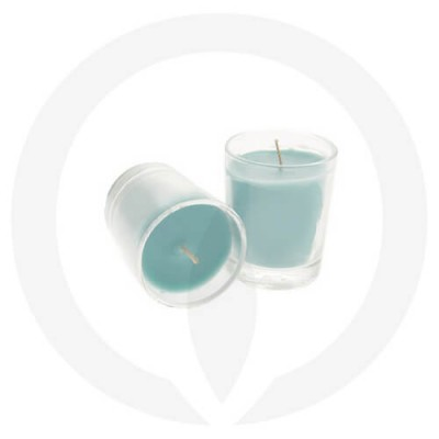 Teal coloured candles