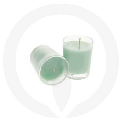 Turquoise coloured candles