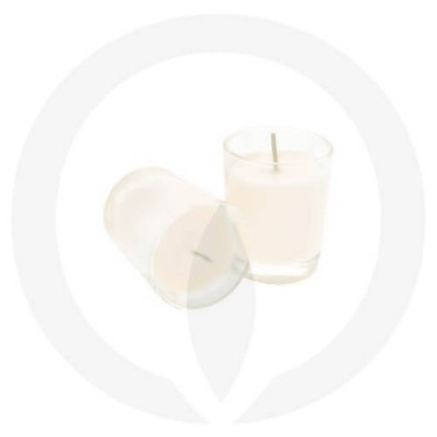 White coloured candles