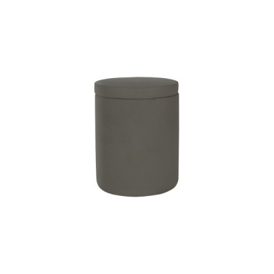 Concrete Medium Curved Base Dark Grey