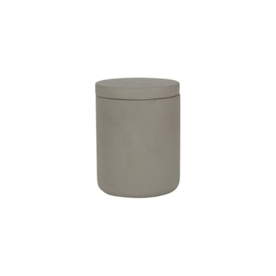 Concrete Medium Curved Base Light Grey