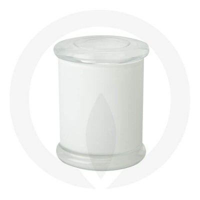 Danube Large Base and Flat Lid Opaque White (Packed with Lid on)