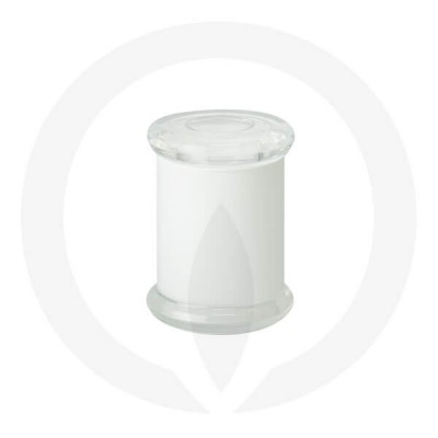 Danube Small Base and Flat Lid Opaque White (Packed with lid on)