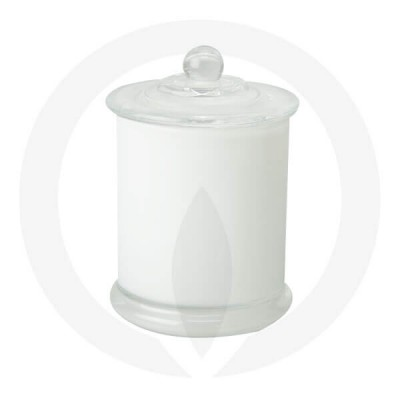Danube Large Base and Knob Lid Opaque White (Packed with Lid on)