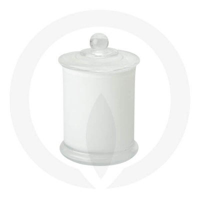 Danube Medium Base and Knob Lid Opaque White (Packed with lid on)